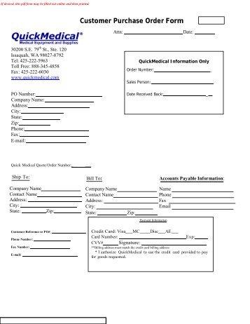Purchase Order Form - Studio Tec