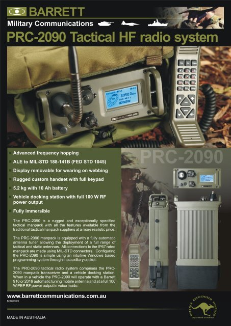 PRC-2090 Tactical HF radio system