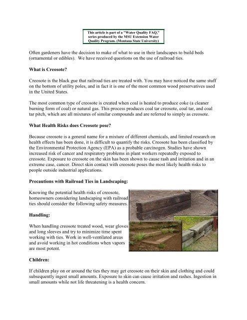 Website railroad ties in the landscape - Creosote