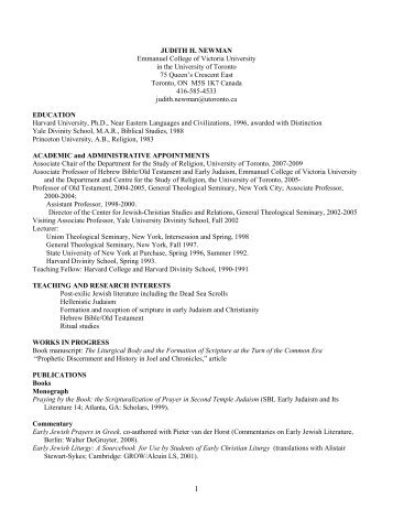 Curriculum Vitae PDF - Holy Spirit: Early Christian Pneumatology