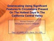 Grotjahn, 2011 - Atmospheric Science Program, UC Davis