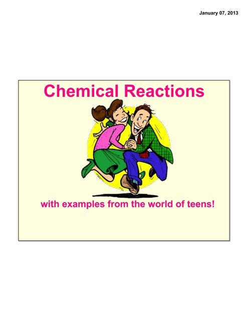 1-7 Types of Reactions Notes pdf - Whitnall High School