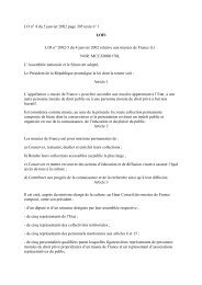 JO n° 4 du 5 janvier 2002 page 305 texte n° 1 LOIS LOI n° 2002-5 ...