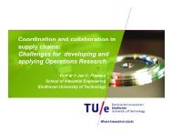 Coordination and collaboration in Coordination and ... - LNMB