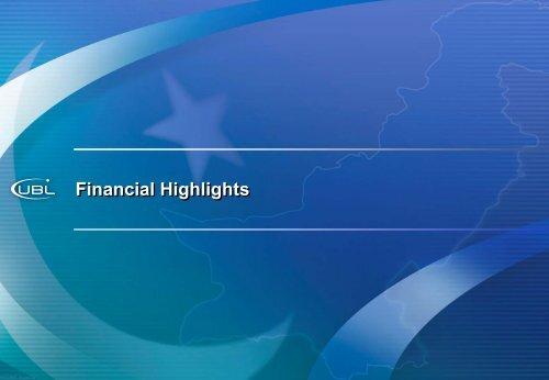 Overview Presentation - United Bank Limited