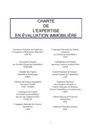 Télécharger la charte de l'expertise en évaluation immobilière
