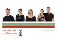 fredrikstad konferansen 2008 - Fredrikstad 2015