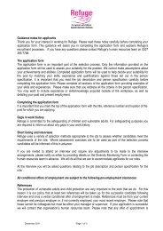 Guidance Notes for Applicants - Refuge