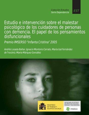 Estudio e intervención sobre el malestar psicológico de los ...