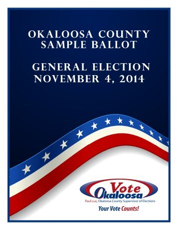 2014 General Election Sample Ballot Booklet