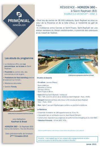 RÉSIDENCE « HORIZON 360 - Primonial Immobilier
