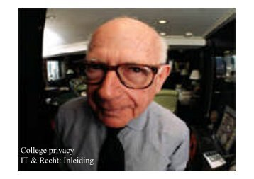 College privacy IT & Recht: Inleiding - Van Eeckhoutte