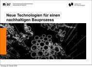 Neue Technologien für einen nachhaltigen Bauprozesse - Wolfsberg