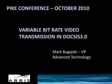 pike conference – october 2010 variable bit rate ... - Ict-redesign.eu