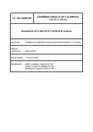 Rozhodnutí o zrušení vnitřní normy 1 - LF
