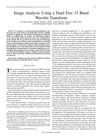 Image Analysis Using a Dual-Tree M-Band Wavelet ... - IEEE Xplore