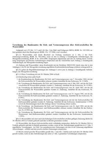 Verordnung des Bundesamtes für Eich- und ... - FEEI