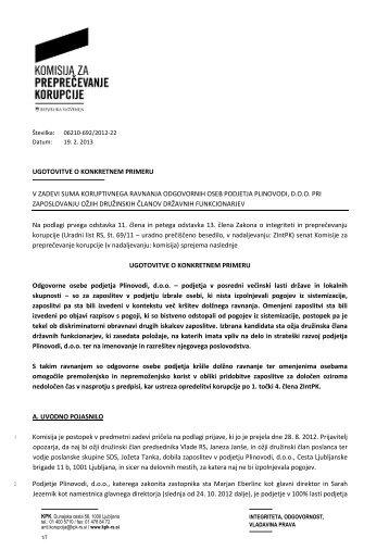 ugotovitve o konkretnem primeru v zadevi suma koruptivnega ...