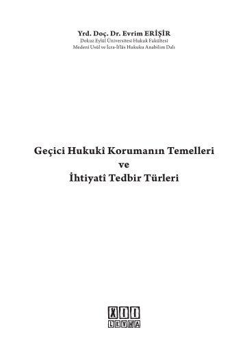 içindekiler pdf - Hukuk Market