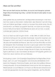 West und Ost und Wien - Moser Verlag