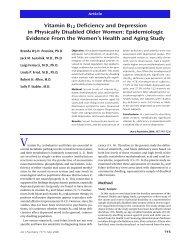 Vitamin B12 Deficiency and Depression in ... - PsychiatryOnline