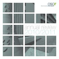 Annual Review 2010-11 - Office of the Scottish Charity Regulator