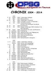 Chrliste 2004 - 2012 - DPSG Stamm Königstein