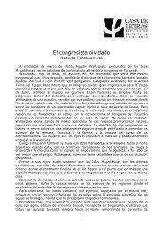 El congresista olvidado - Roberto Fontanarrosa