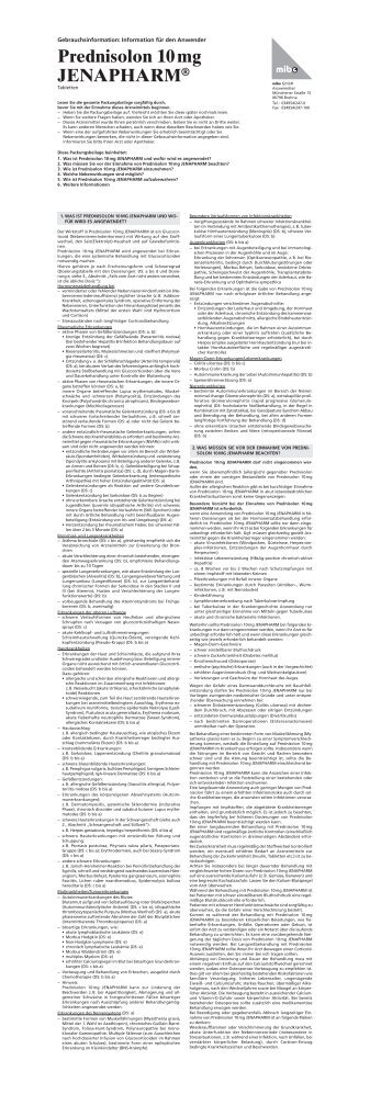 Prednisolon 10 mg JENAPHARM - mibe GmbH Arzneimittel