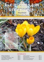 Pfarrblatt Ostern 2013 - Pfarre Pabneukirchen