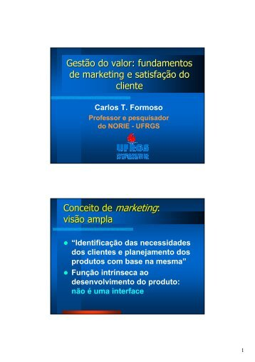 Gestão do valor: fundamentos de marketing e satisfação do cliente ...