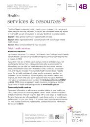 4B Health: Services & Resources - Seniors Information Service ...
