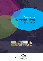 Paraplunota Economisch Klimaat 2012 - 2030 - gemeente Moerdijk