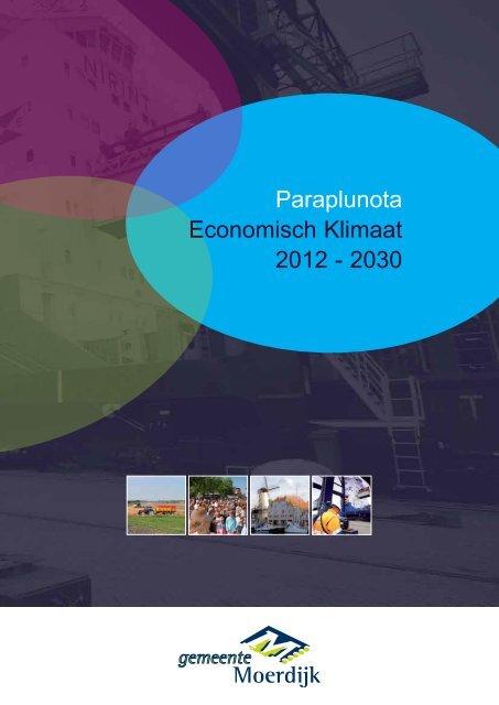 Paraplunota Economisch Klimaat 2012 2030 Gemeente Moerdijk