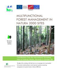 multifunctional forest management in natura ... - Alpine-space.org