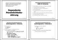 Dependente Persönlichkeits- störung - Institut für Psychologische ...