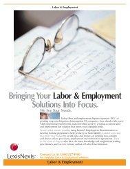 Bringing Your Labor & Employment Solutions Into Focus. - LexisNexis