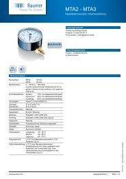 Technische Daten - Baumer