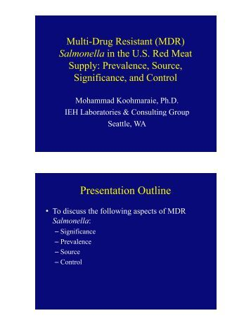 Multi-Drug Resistant Salmonella in beef