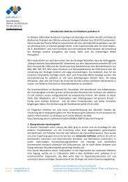 Jahresbericht 2010 des Co‐Präsidiums palliative ch (PDF)