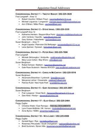 Congressional Districts / Representative's Contact