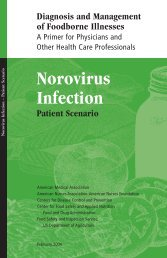 Patient Scenario: Norovirus Infection - Southern Nevada Health District