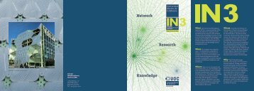Network Research Knowledge - IN3 - Universitat Oberta de Catalunya