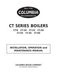 CT SERIES BOILERS - Columbia Heating