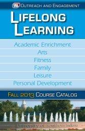 Lifelong Learning Catalog - University of Southern Indiana