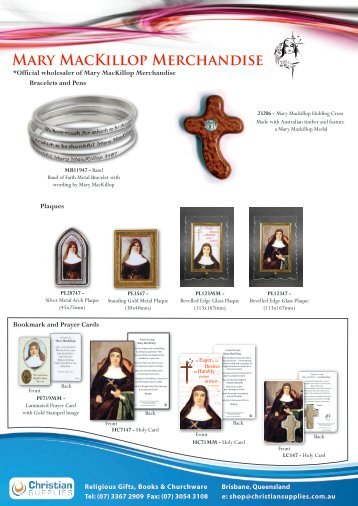 Mary MacKillop Products - Christian Supplies