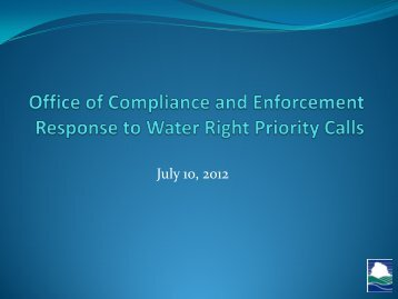 Regional Response to Water Right Curtailments