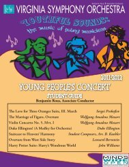 outhful Young People's Concert - Virginia Symphony Orchestra
