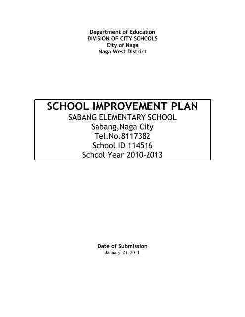 School Improvement Plan DepEd Naga City