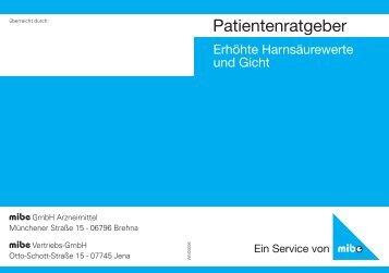 Patientenratgeber - mibe GmbH Arzneimittel